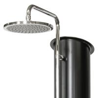 Solární sprcha - páková baterie, detail sprchy